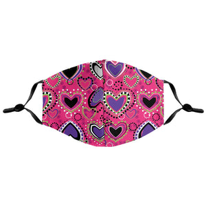 Bild in Slideshow öffnen, Purple Hearts Mask