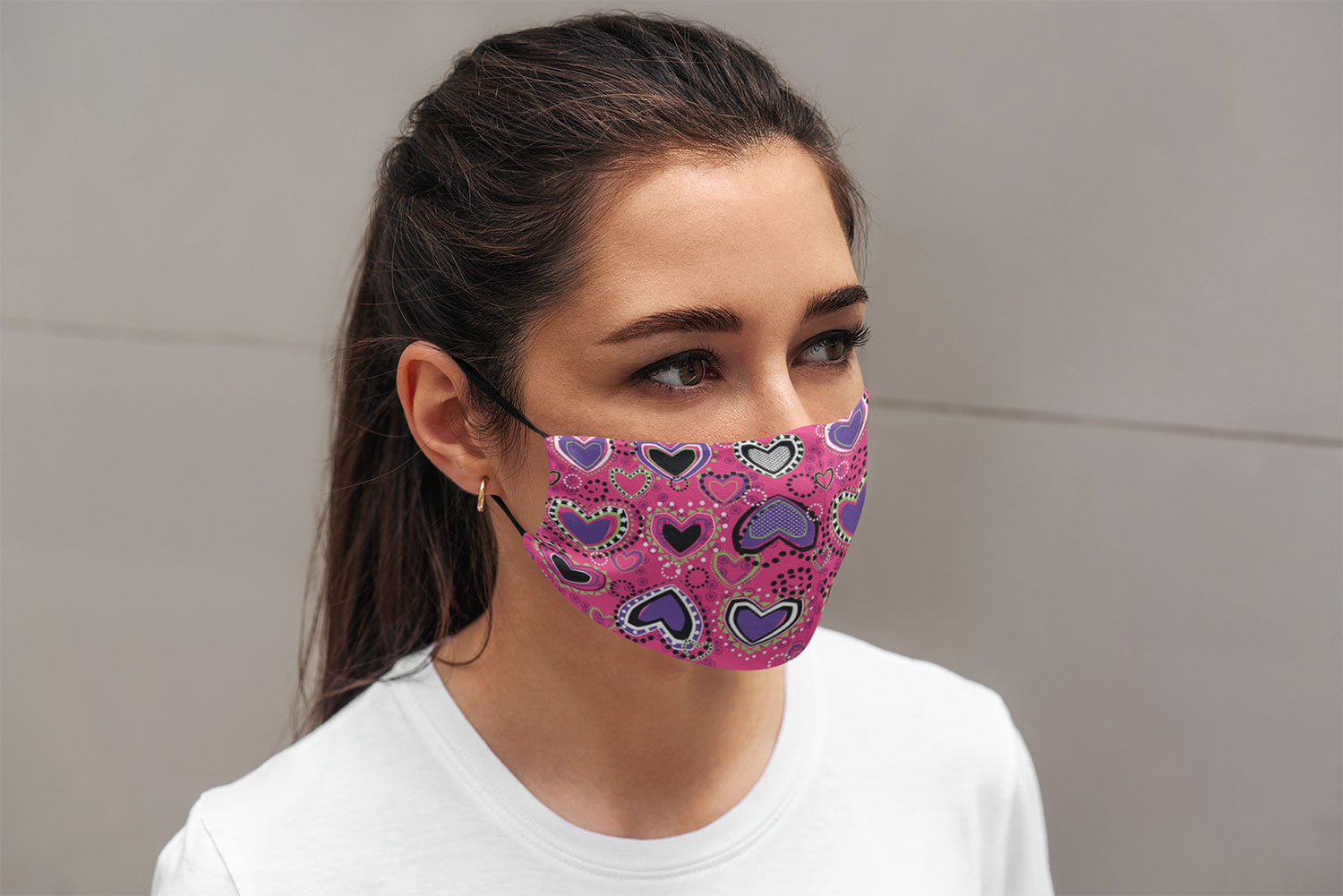 Purple Hearts Mask