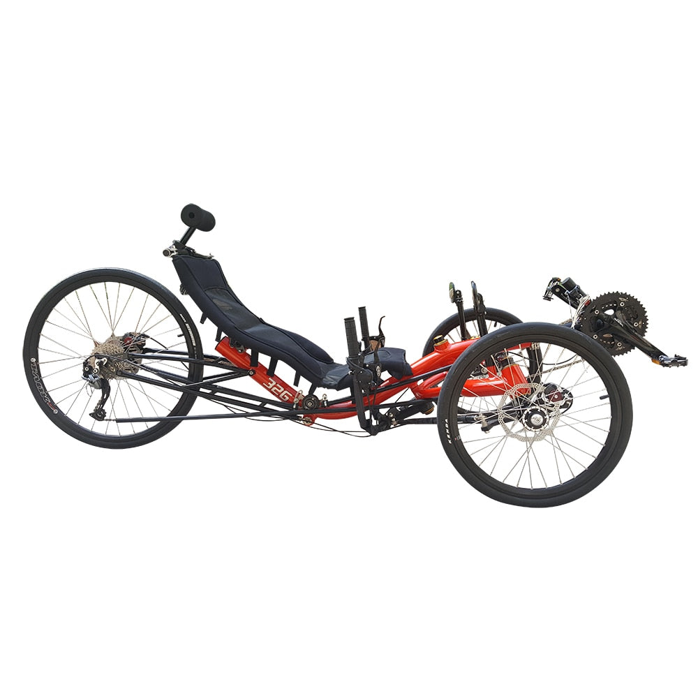 Adult Aluminum Alloy Frame 27 Speed Touring 3 Wheel Recumbent Trike