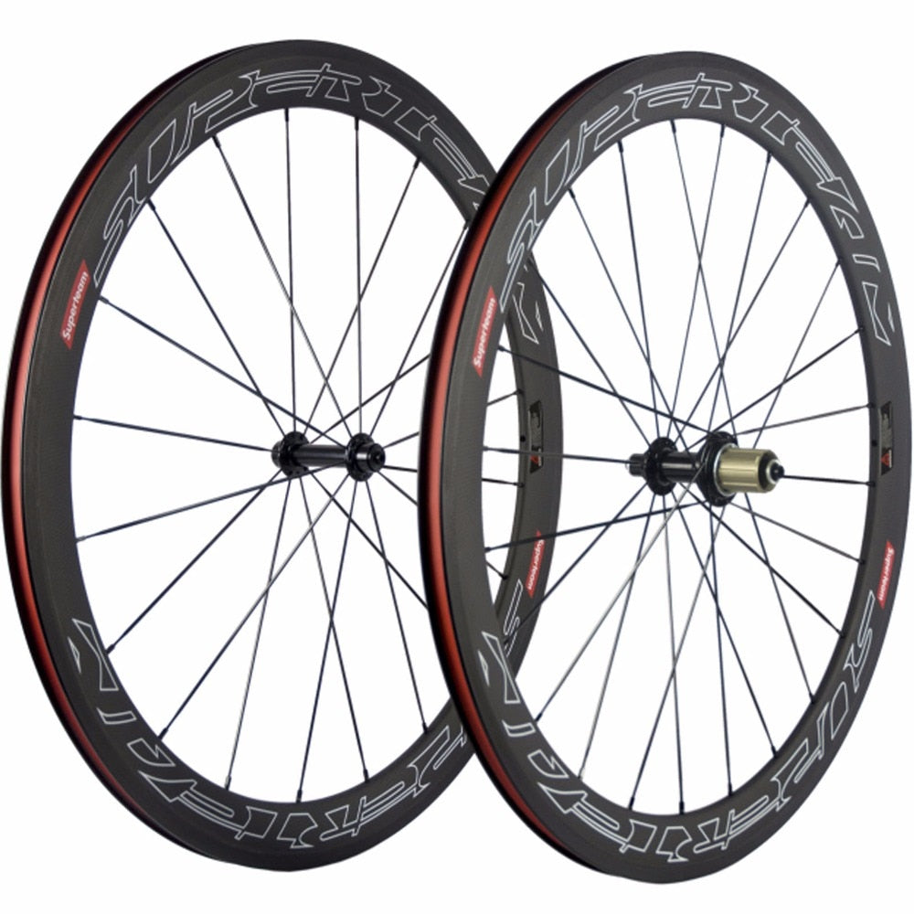 50mm Clincher Carbon Wheel Carbon Road Wheelset 700C Full Chinese Carbon Wheels Cycling Bicycle Wheels