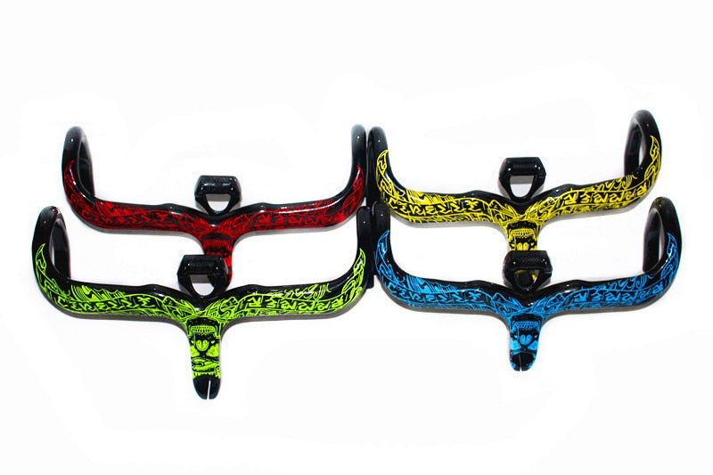 EC90 Famous Brand Bike Carbon Fiber Handlebar Bend The One-Piece Curved Bend Stand Bottle Frame Cushion Seat Rod