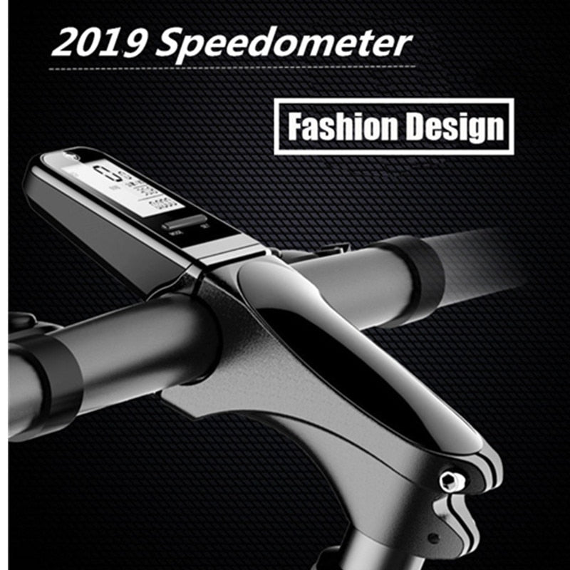 2019 Bicycle Bike Computer MTB Road Stem with Speedometer Cycling Stopwatch Bike Wireless English Intelligent velocimetro bicicl