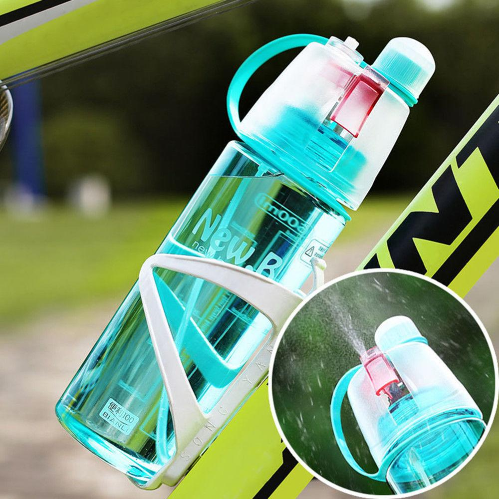 600ml New Creative Outdoor Bicycle Cycling Drinking Bottles Sport Spray Bottle Water Bottle Cooling Down Mist Gym Bottle Cup