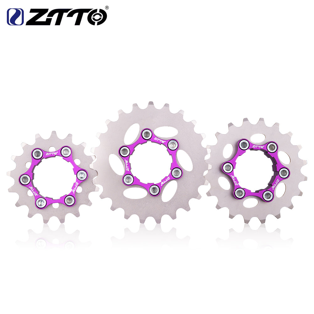 ZTTO MTB Single Speed Cassette Single Cog Gear 16T 17T 18T 19T 20T 21T 22T 23T Freewheel K7 Cassette Bicycle BMX Sprocket