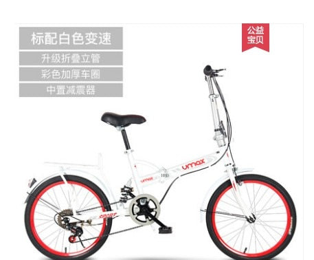 FOLD 16 AND 20  inch adult big boy light girl princess lady with child leisure commute single speed small wheel bicycle