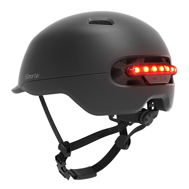 Smart4u SH50 Men Smart Bicycle Helmet For Brompton Bike Back Automatic LED Light Helm Women Ultralight Bike Helmet