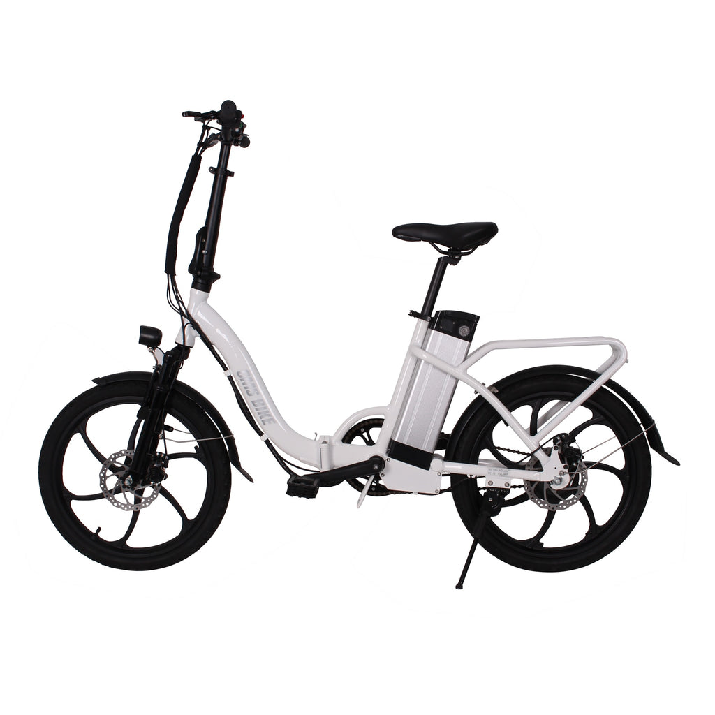 20inch folding electric bike with display+suspension+pedal+lithium battery 10.4ah+disc brake electric bicycle for two person