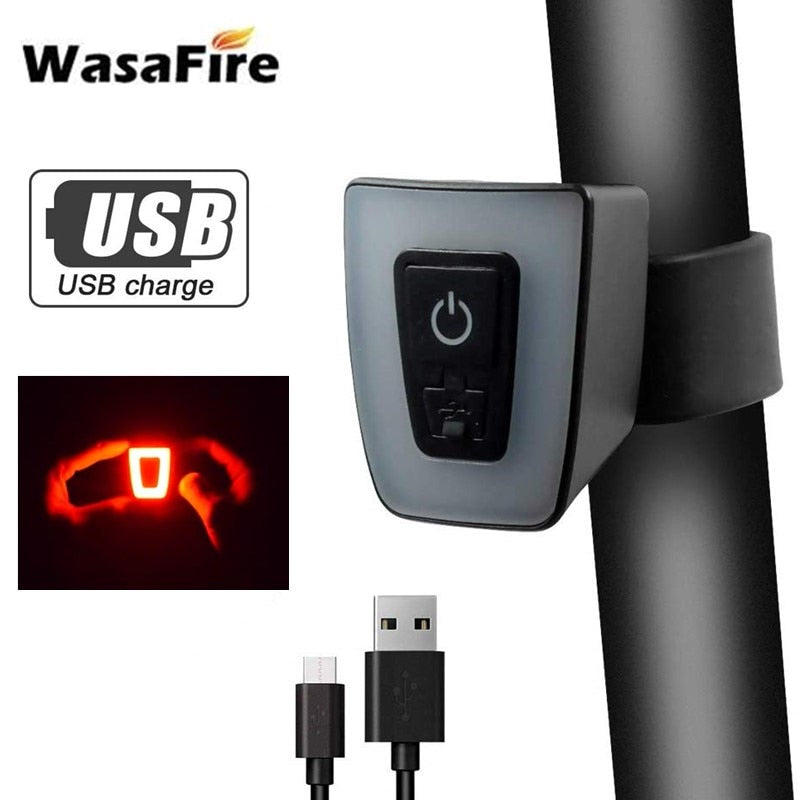 WasaFire Bicycle Taillight USB Rechargeable Bike Rear Light 5 Modes Mini LED MTB Bike Helmet Lamp Cycling Safety Warning Light