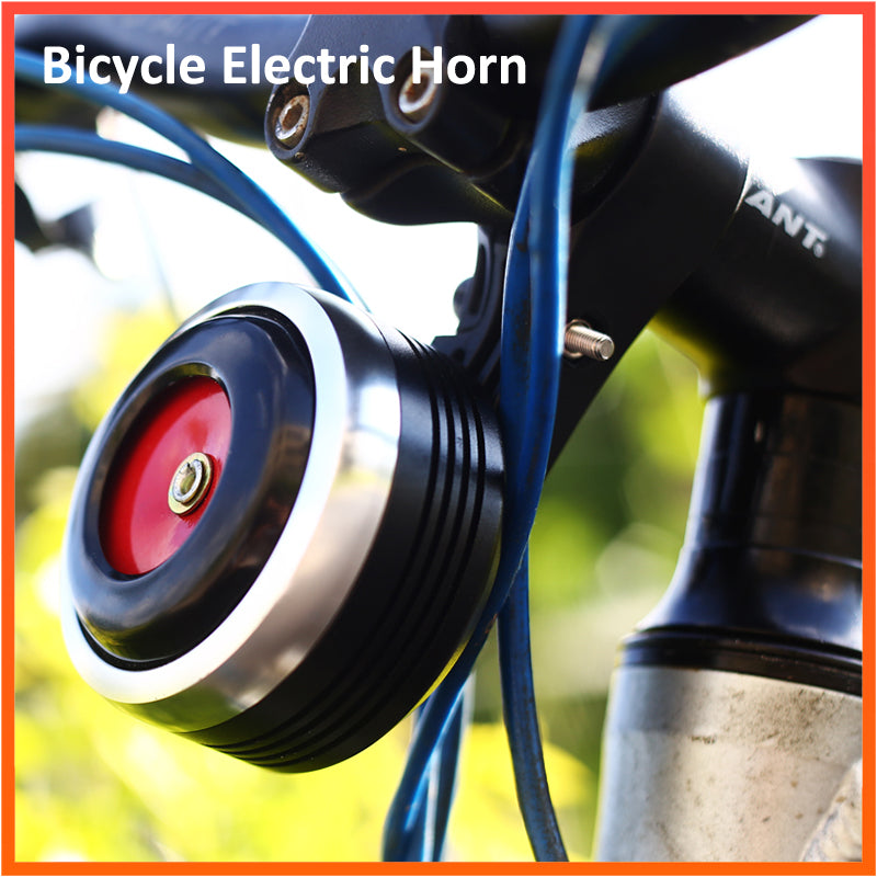 Bicycle Bell Electric Horn with Alarm Super Sound for Scooter MTB Bike USB Charging 1300mAh Safety Anti-theft Alarm 125db Loud