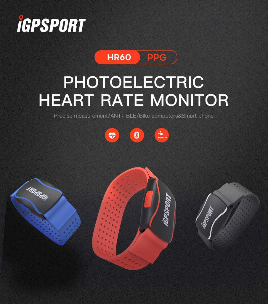 IGPSPORT HR60 Smart Wristband Fitness Bracelet Tracker Heart Rate Monitor Armband Step Counter Compatible GARMIN Bryton computer