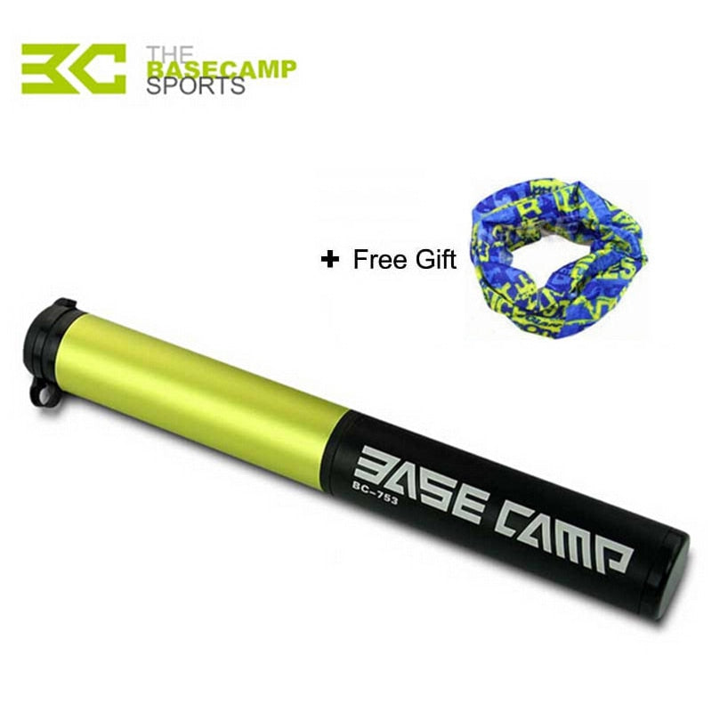 Basecamp Mini Portable Bicycle Pump Light Aluminum Alloy Bike Pump Air Pump Mountain Cycling Tire Inflator Schrader Presta Valve