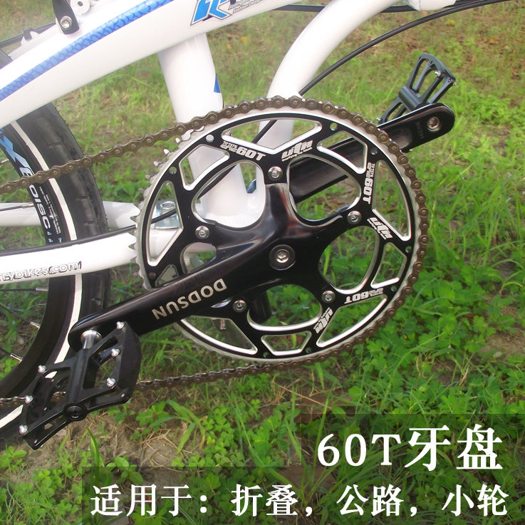 Folding bicycle 60t chainwheel aluminum chainwheel 170MM crank bicycle accessories