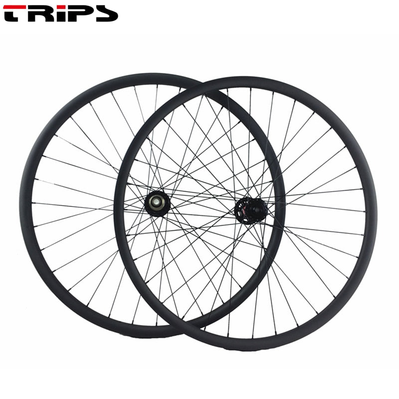 27.5er carbon BOOST wheels 27mm asymmetric XC MTB mountain bike carbon wheels 15*110mm 12*148mm J-bend tubeless bicycle wheelset