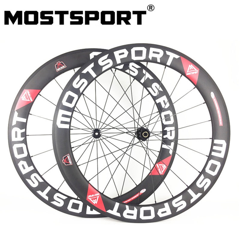 MOSTSPORT 60mm Clincher Carbon Wheels With DT Swiss 350 hubs Straight Pull