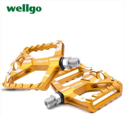 Wellgo B130 pedal aluminum alloy bearing pedal mountain bike road bike pedal bicycle pedal accessories