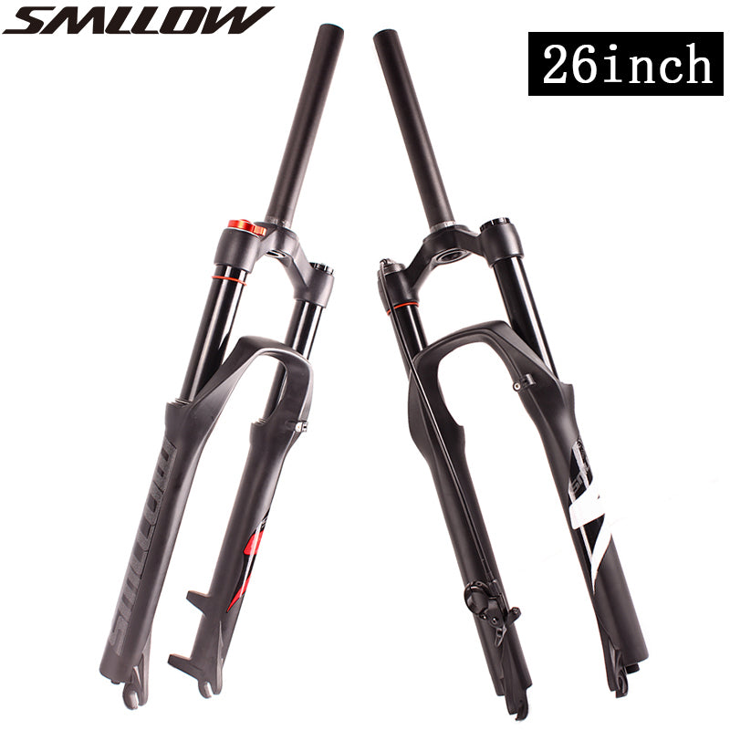 SMLLOW 26Inch MTB Mountain Bike Fork Oil Air Suspension/Air Resilience Line /shoulder Control Down Hill Suspension Bicycle Fork