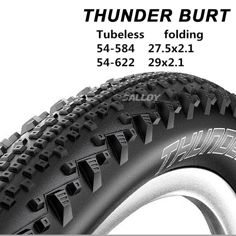 German SwalloTHUNDER BURT mountain bike tubeless tire folding 27.5x2.1 / 29x2.1 MTB vacuum tire XC / AM puncture prevention tire