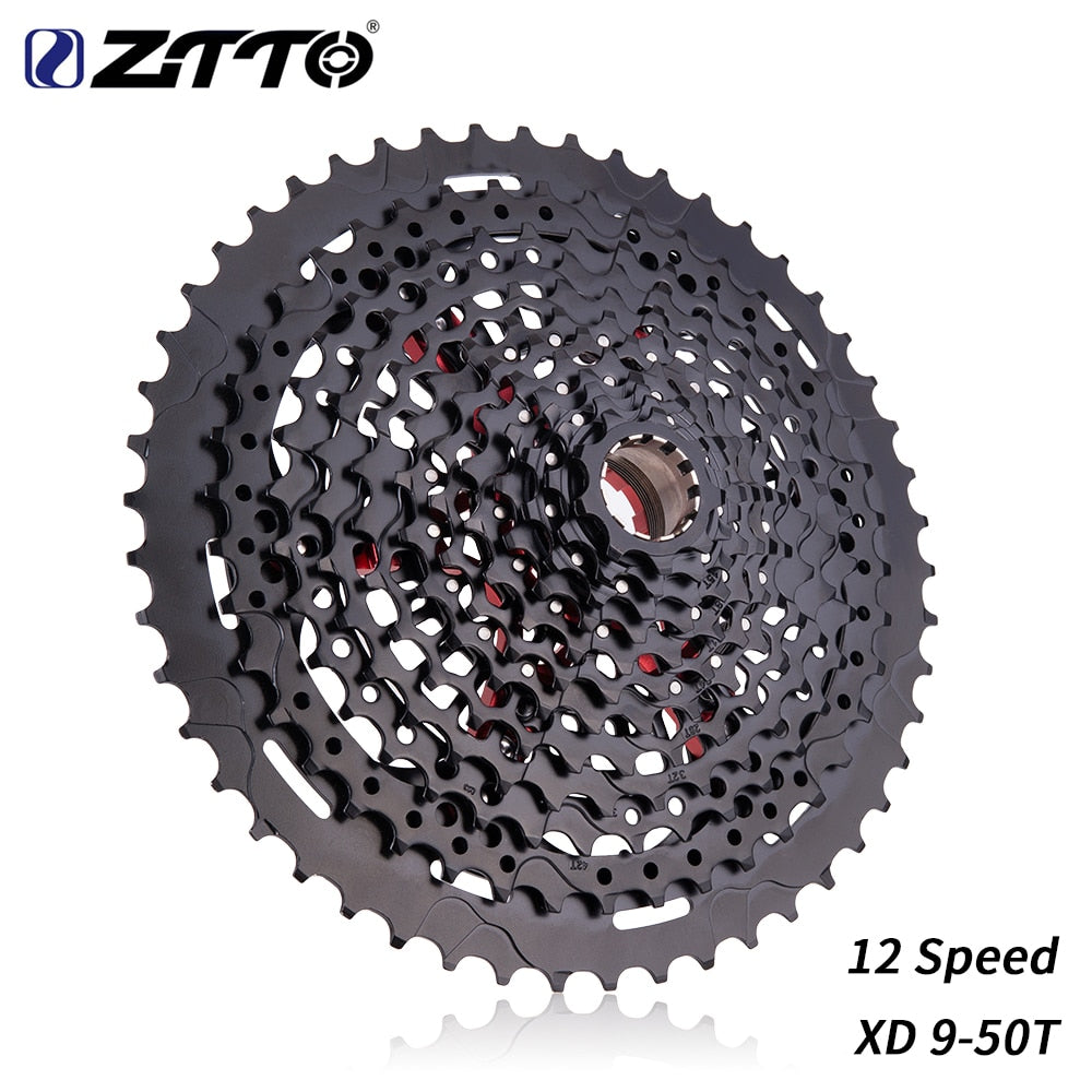 ZTTO Mountain Bike Flywheel 12 Speed 9-50T Cassette XD Cassette Black 540g 9-50 Cassette 12s Cassette k7