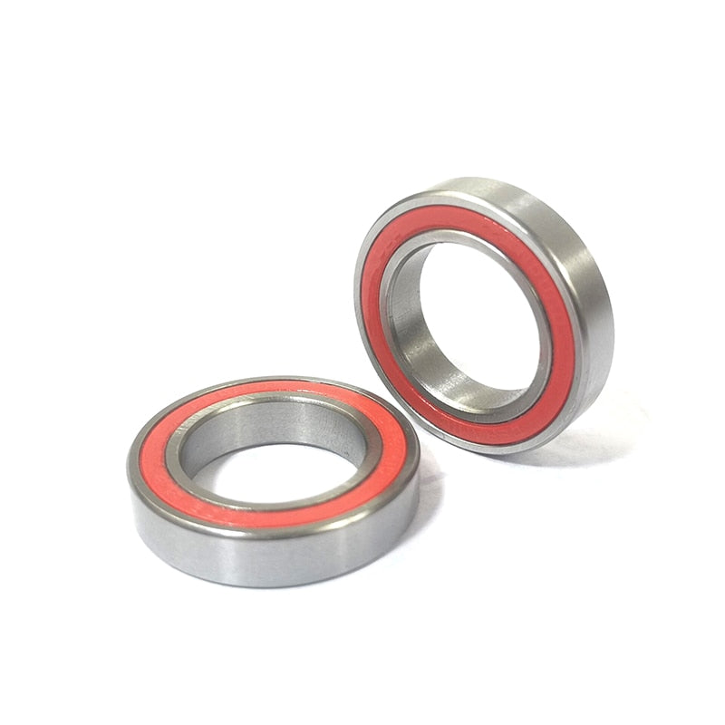 2pcs/lot 15X24X5 TOP ENDURO 6802 LLB replacement ceramic sealed bearings for Powerway R36 rear hub PFH-R36 2 double rubber seals