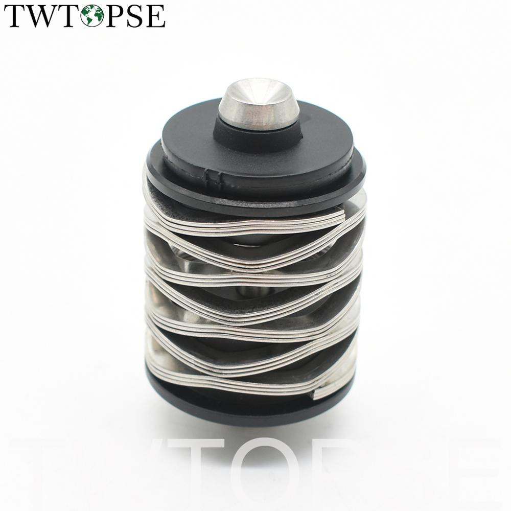 TWTOPSE 115g Wave Spring Bike Rear Shocks Titanium Bolt For Brompton Folding Bicycle Suspension 304 Stainless Steel Spring Part