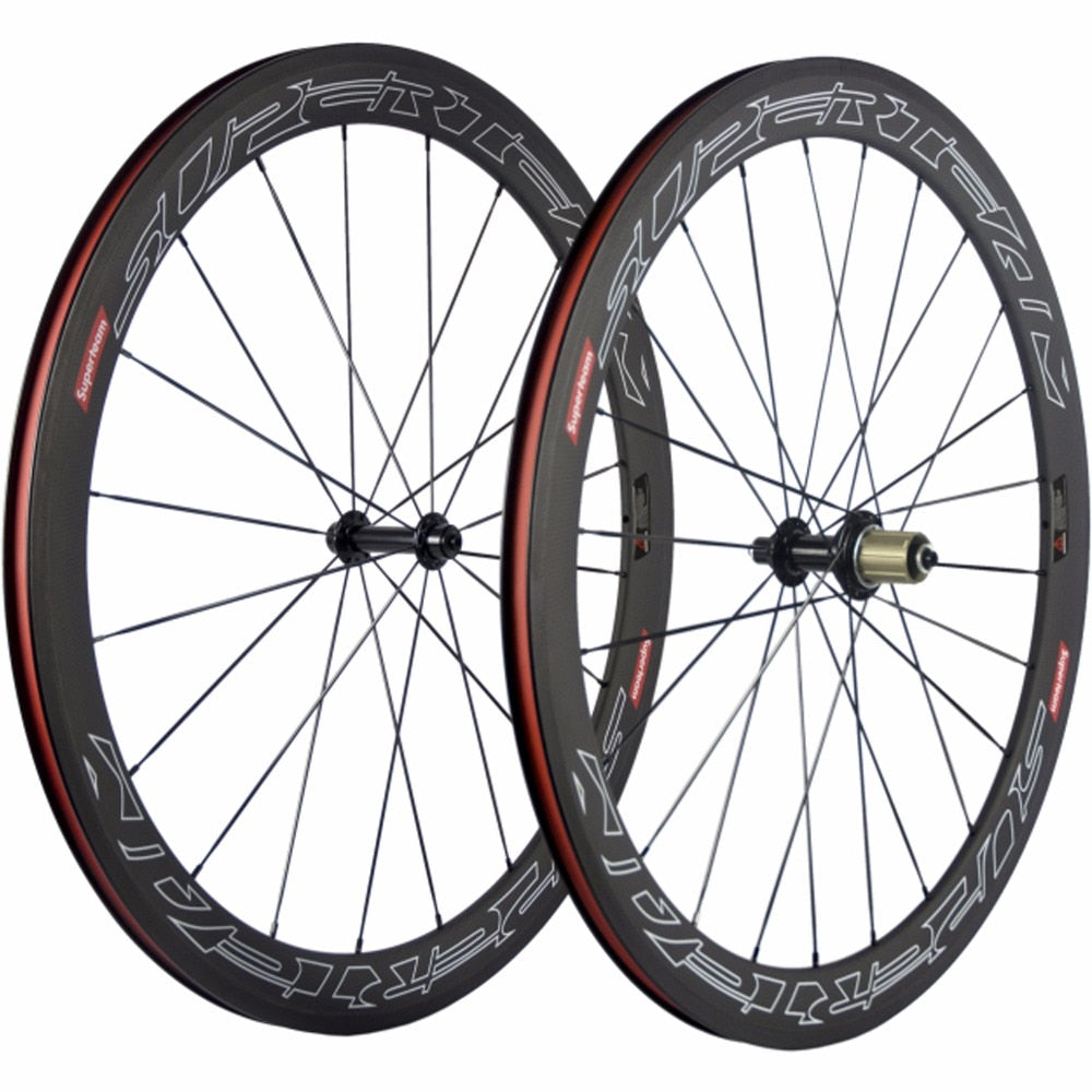 SUPERTEAM 700C Carbon Road Bike Wheelset Clincher 50mm Carbon Wheels R13 Racing Bicycle Wheel Carbon 3K Matte