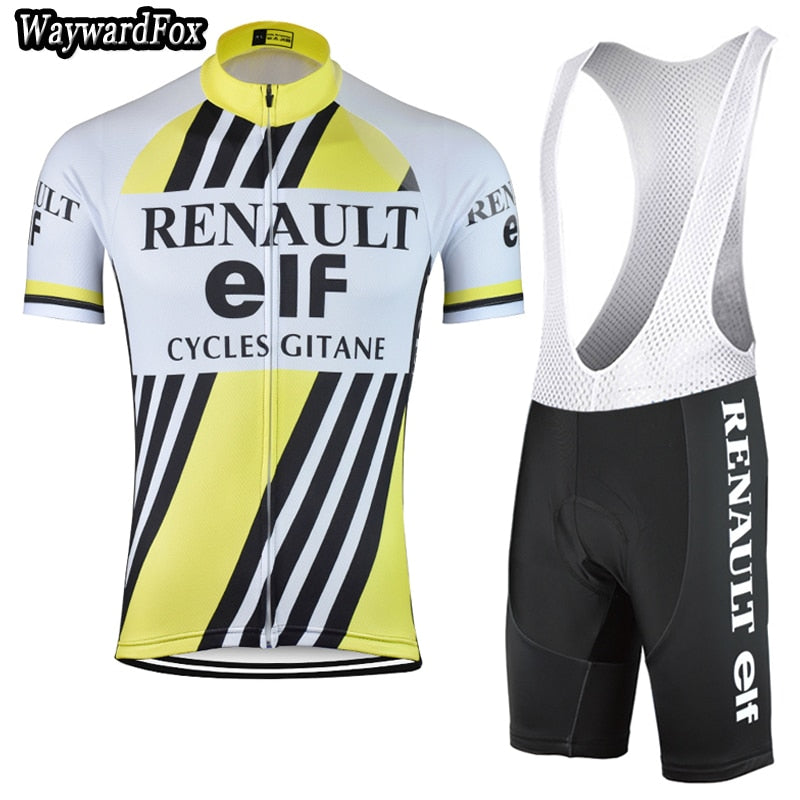 NEW 2017 Men's yellow cycling jersey kit Bicycle Team riding Short Sleeve cycling Sets clothing wear Bib Shorts Lycra Gel Pad