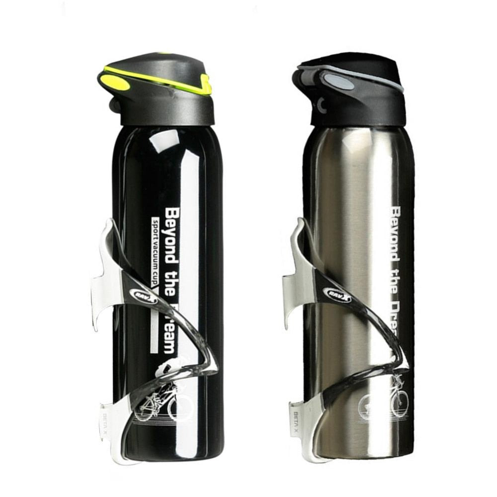 500ml Mountain Bicycle Kettle Riding Aluminum Alloy Thermos Cup Warm-keeping Water Cup Sports Bike Accessories Water Bottle