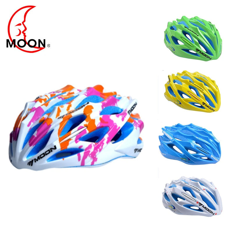 Moon Bicycle Helmet Sports Safety Bike Cycling Helmet 55-58cm/58-61cm Road Mountain Ultralight Light Colorized Helmet