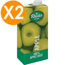 Rhodes Apple 100% Natural Juice 1L X2