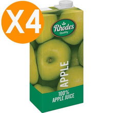 Rhodes Apple 100% Natural Juice 1L X4