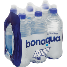 Bonaqua Pump Still Water Bottle 750ml X6 ƒ?? CocaCola Brand