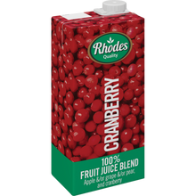Rhodes Cranberry 100% Natural Juice 1L 100% Natural