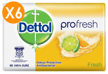 Dettol Soap Bar Pro Fresh 175gr X6