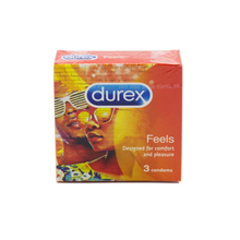 Durex Feels Condoms Designed for Extra Pleasure Safe Comfort Fit 3's