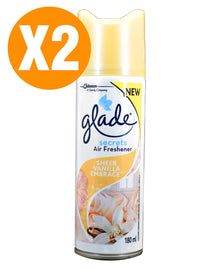 Glade Air Freshener Secrets Vanilla Embrace 180ml X2