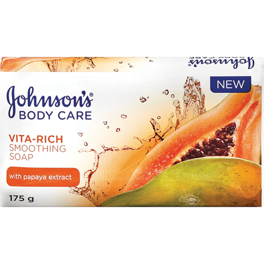 JOHNSON'S VITA-RICH SMOOTHING BODY SOAP WITH PAPAYA EXTRACT 175g