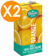 Rhodes Orange 100% Natural Juice 1 Liter X2
