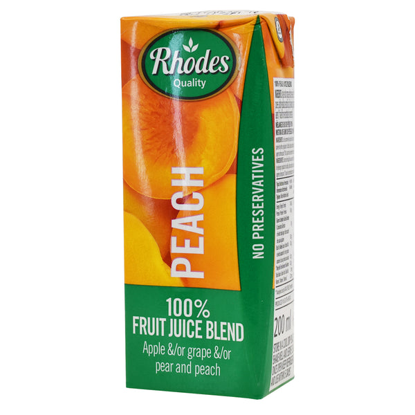 Rhodes Peach 100% Natural Juice 200ml
