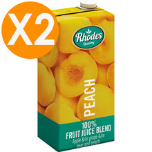 Rhodes Peach 100% Natural Juice 1 Liter X2