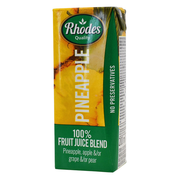 Rhodes Pineapple 100% Natural Juice 200ml