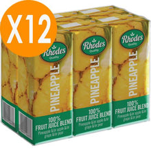 Rhodes Pineapple 100% Natural Juice 200ml X12