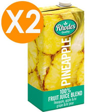 Rhodes Pineapple 100% Natural Juice 1 Liter X2