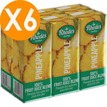 Rhodes Pineapple 100% Natural Juice 200ml X6