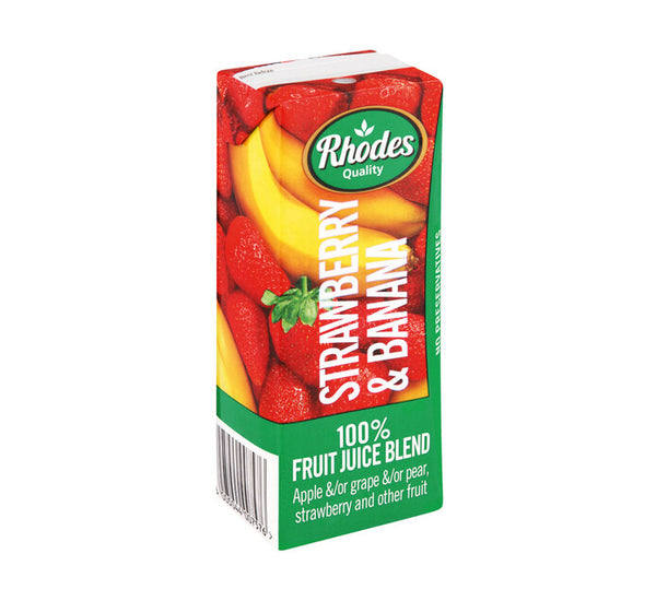 Rhodes Strawberry & Banana Juice 200ml - HKPRICESMART