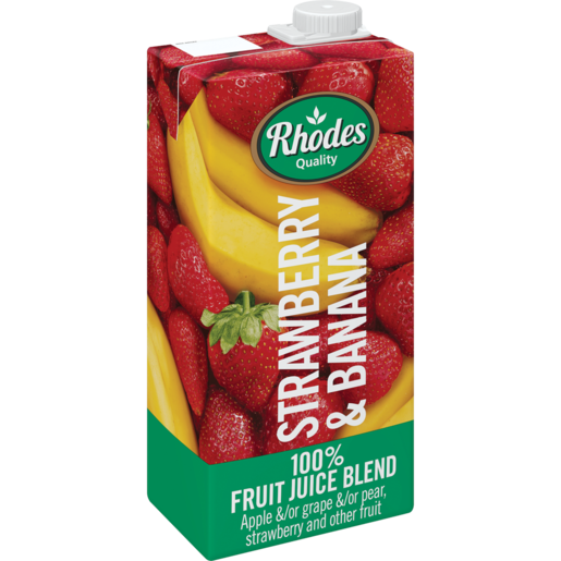 Rhodes Strawberry & Banana 100% Natural Juice 1 Liter