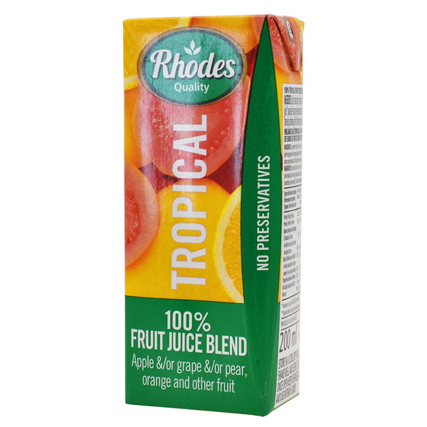 Rhodes Tropical Mix 100% Natural Juice Blend 200ml