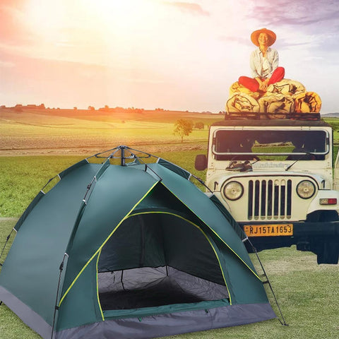 Automatic outdoor tent