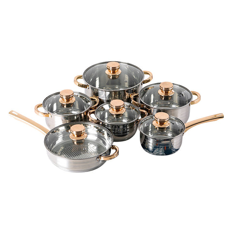 12 Piece Stainless Steel Pot