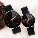 Simple Leather  Couple Watch