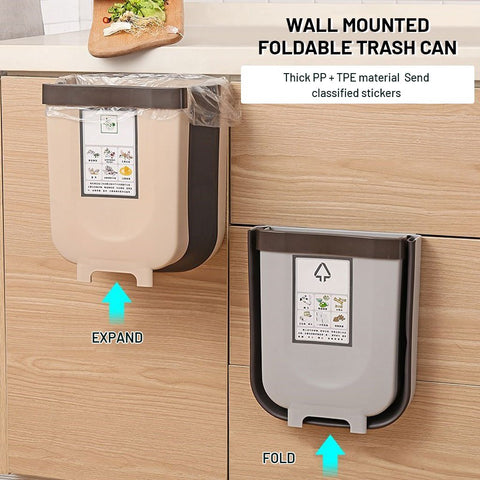 Wall Mounted Foldable Trash Can